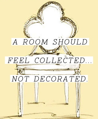 Collected not Decorated image via pinterest (leftover luxuries blog)