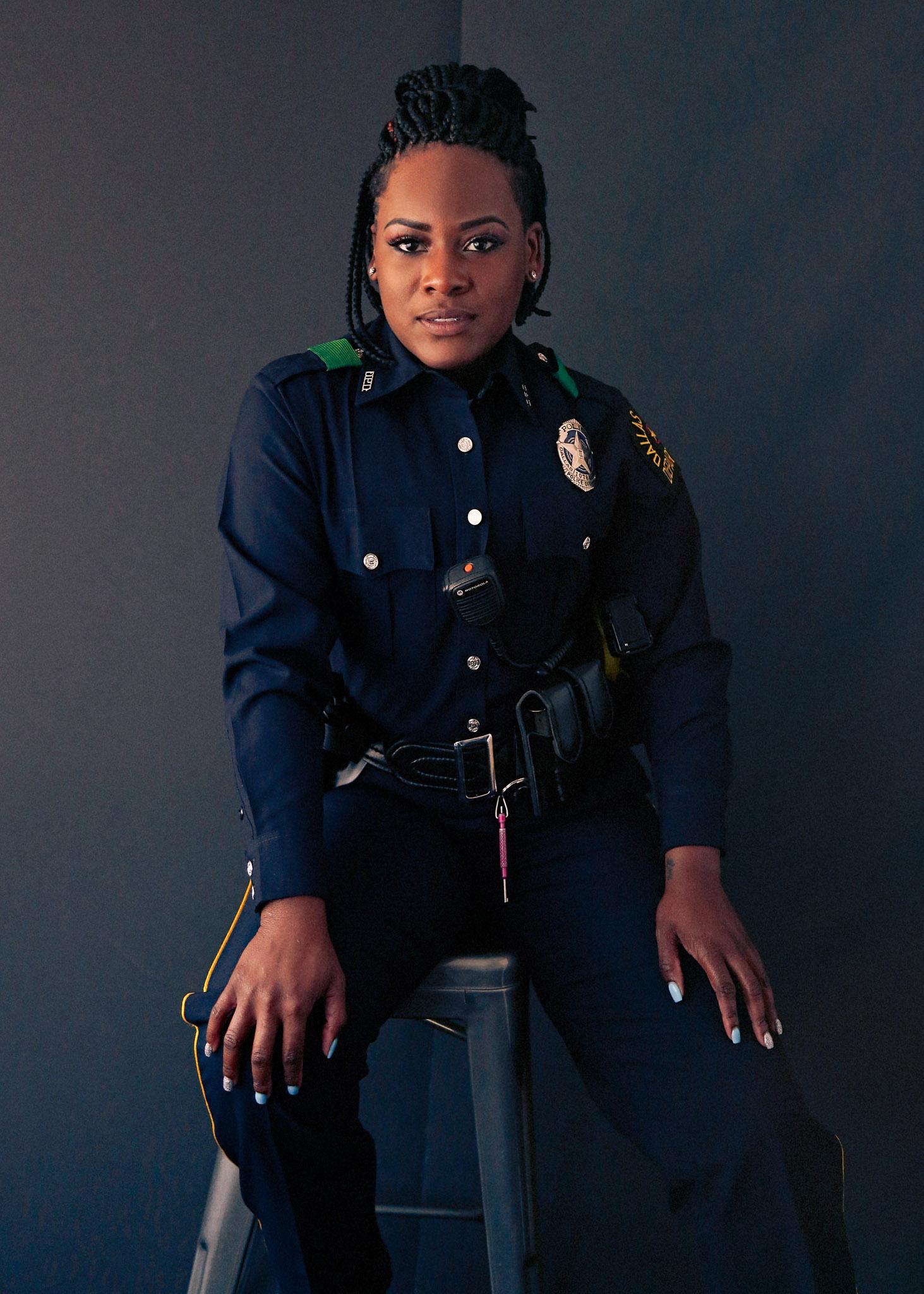 Braided blonde police woman | Police women, Female cop